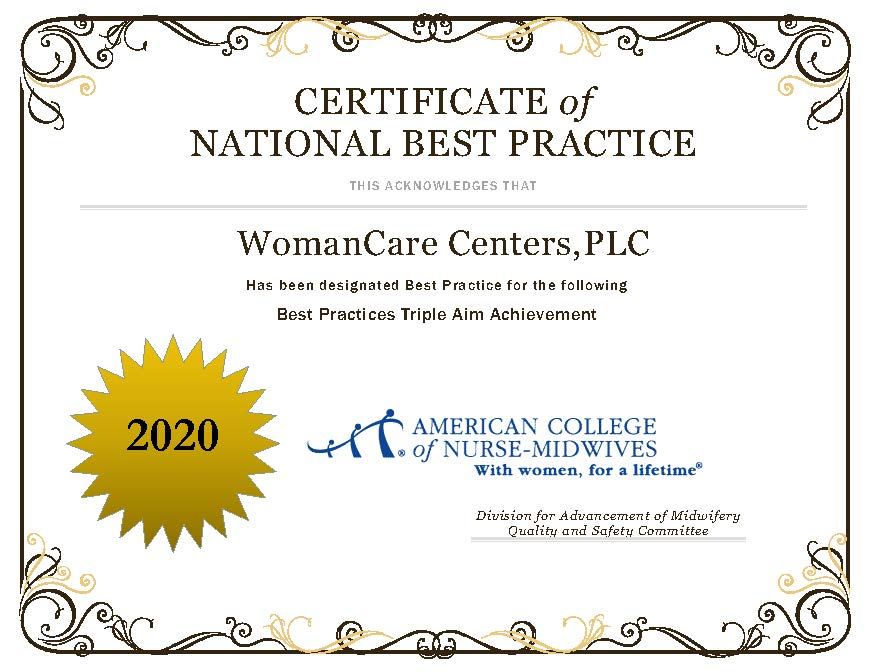Certificate of National Best Practices