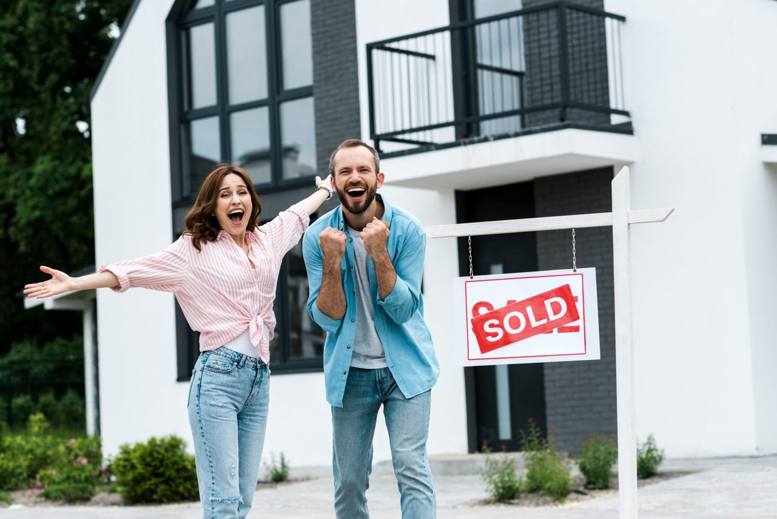Happy home buyers