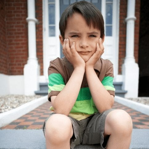 boy on steps