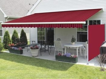 Motorized Awning with retractable sun screen