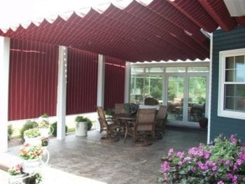 Pergola with Shades After