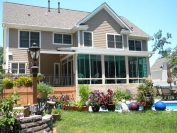 Screen Porch Conversion To Sunroom After Exterior