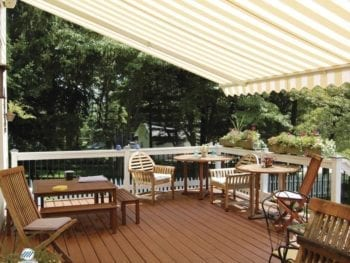 Motorized Retractable Awning Over Deck