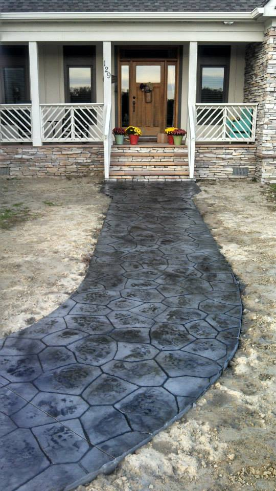 Stamped walkway (unfinished)
