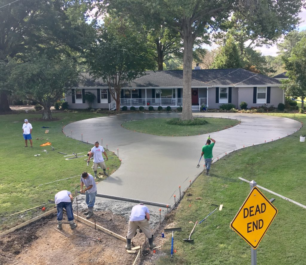 Circle driveway middle