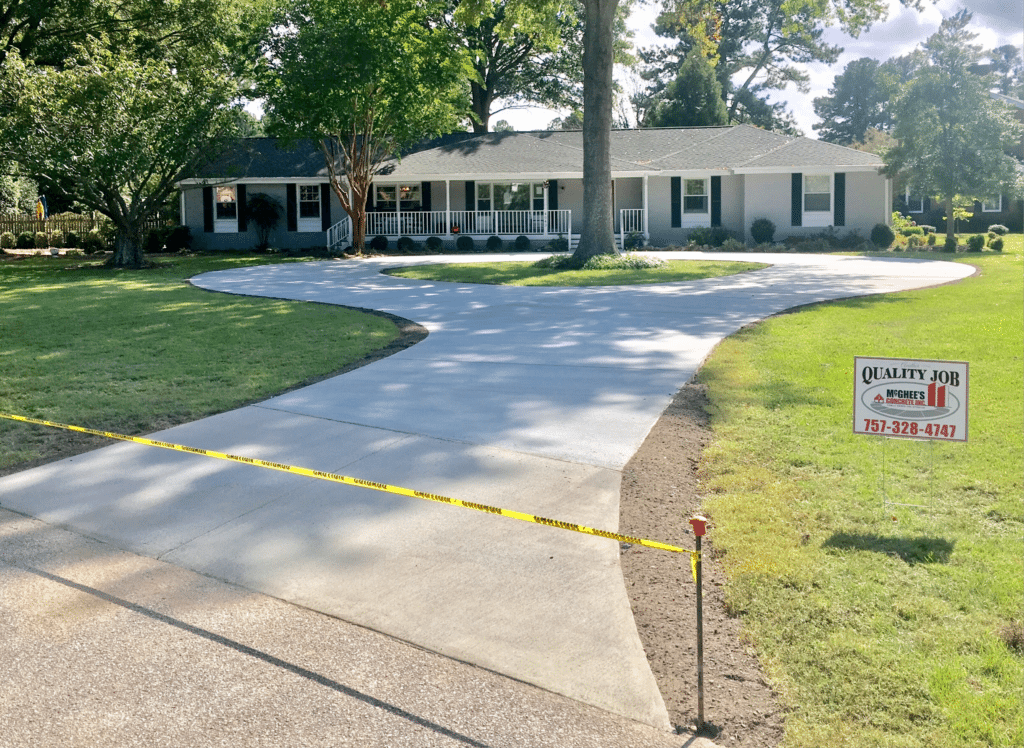 Circle driveway complete