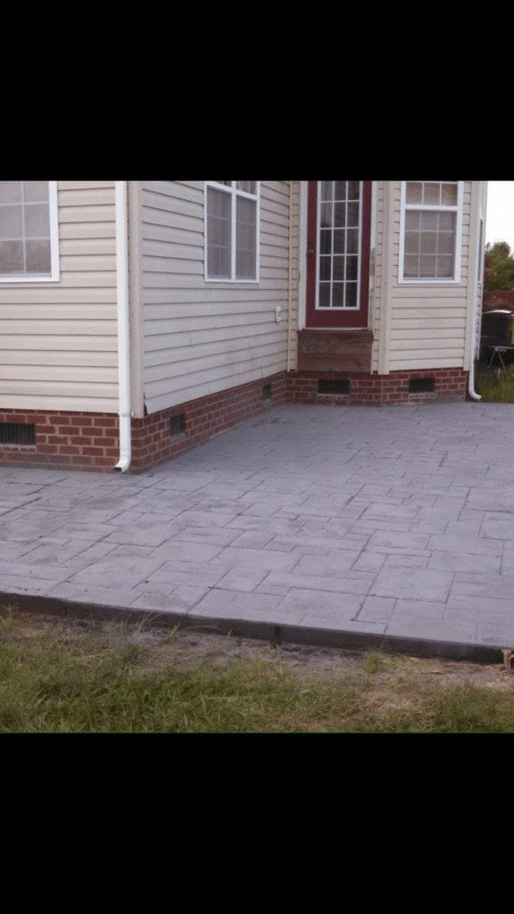 Stamped patio (unfinished)