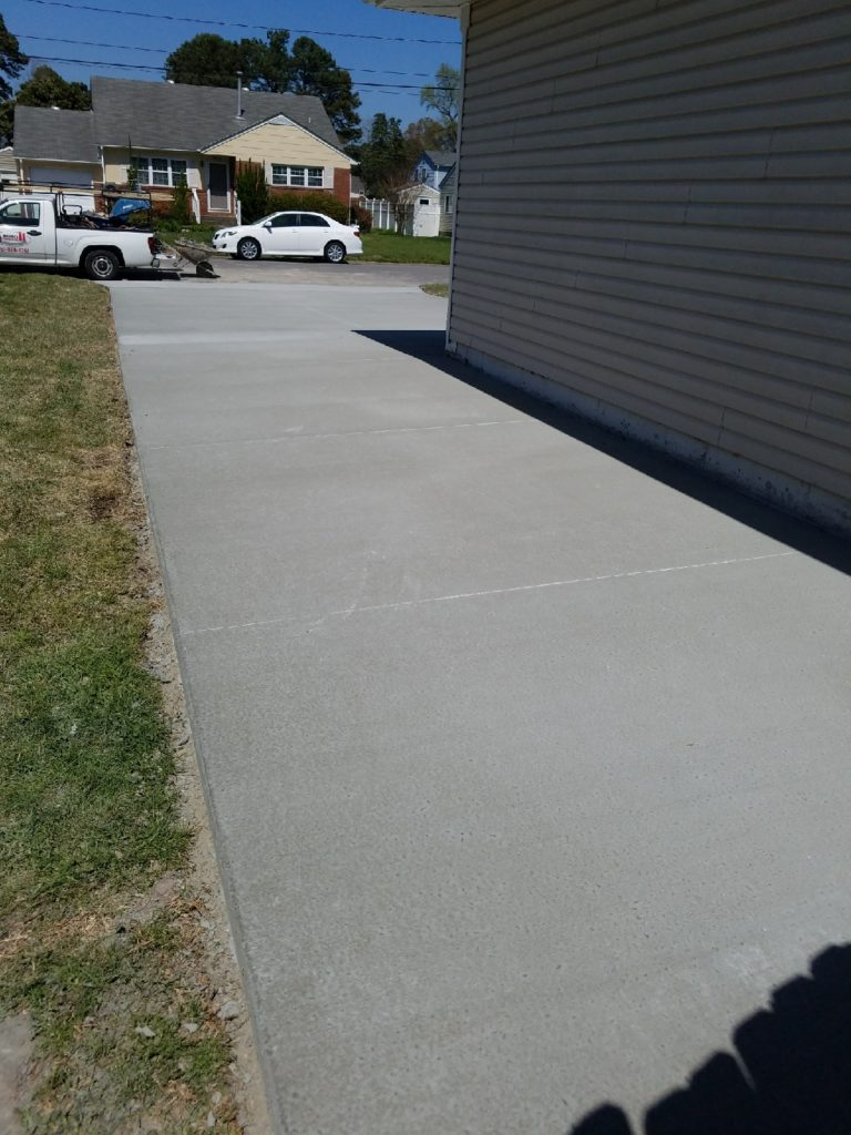 Broom finish walkway